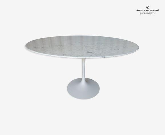 Table Tulipe Knoll En Marbre Eero Saarinen Marbre Blanc Design