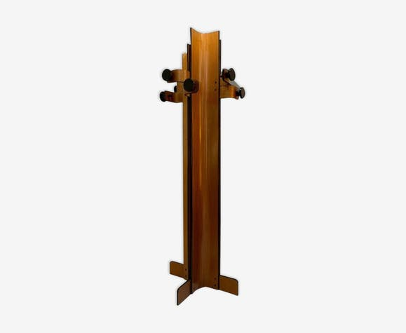 Coat Rack In Multiplex Curved Wood By Campo & Graffi