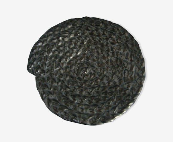 empty vintage Black ceramic Pocket