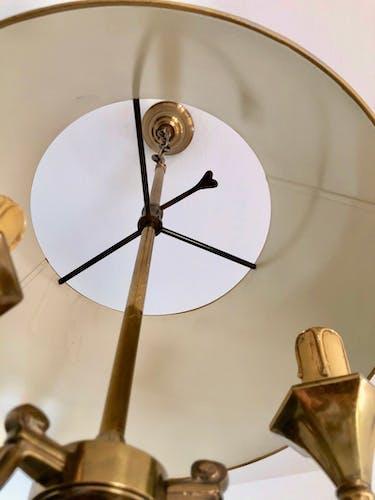 Suspension bronze bouillotte 3 feux