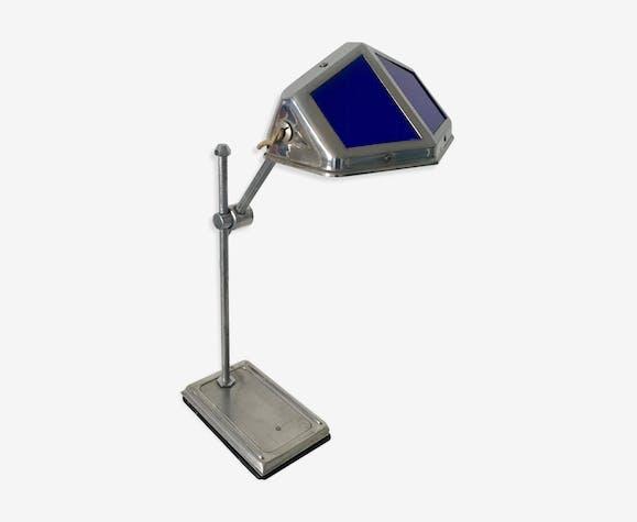 Lampe Bureau Pirouett Art Deco Vintage Des Annees 30 Laiton Bleu