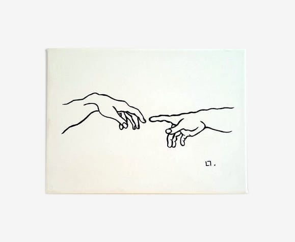 """Illustration """"La création d'Adam"""""""