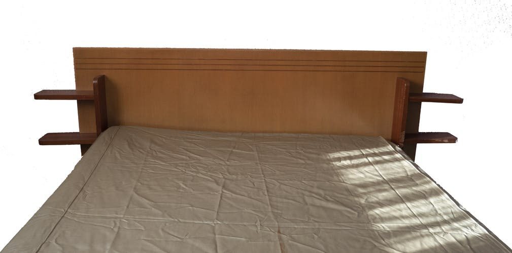 Tête de lit et chevet suspendu vintage design scandinave années 50/60