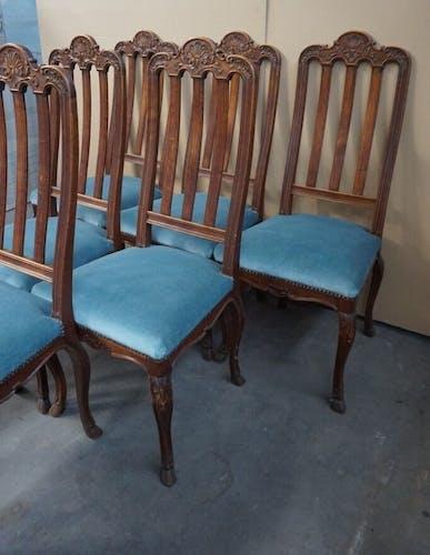 Ensemble de 6 chaises dans le style de Louis XV