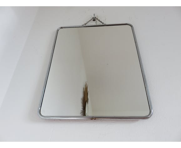 Chain barbershop mirror from the 50/60s - 24x29cm