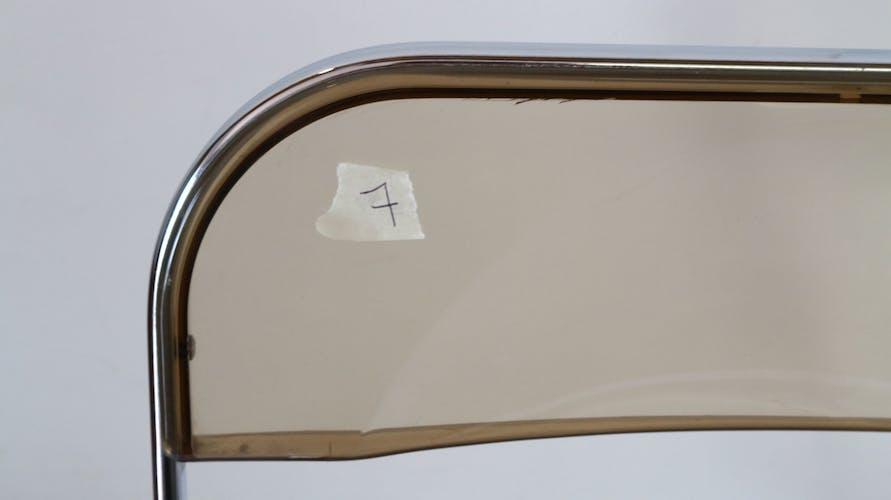 Paire de chaises pliantes Plia Anonima Castelli, 70s