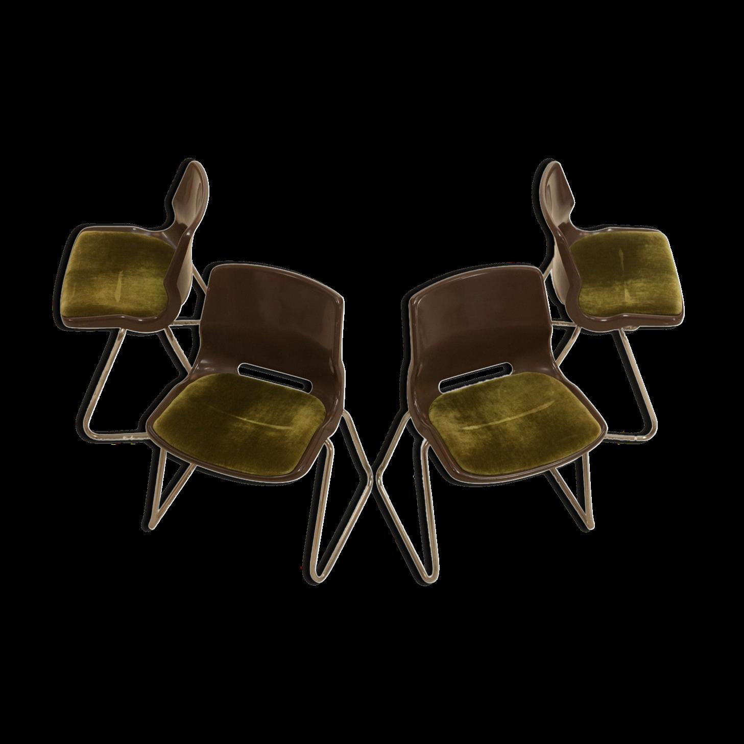 Overman 70s Chairs   Plastic   Green   Vintage   JjU4wAO