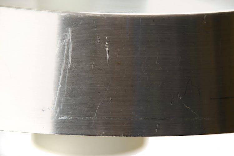 Suspension verre et aluminium brossé  Suède années 1960