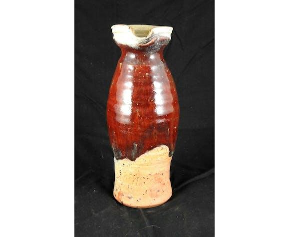 Pichet cruche en grés sang de bœuf par Fontgombault