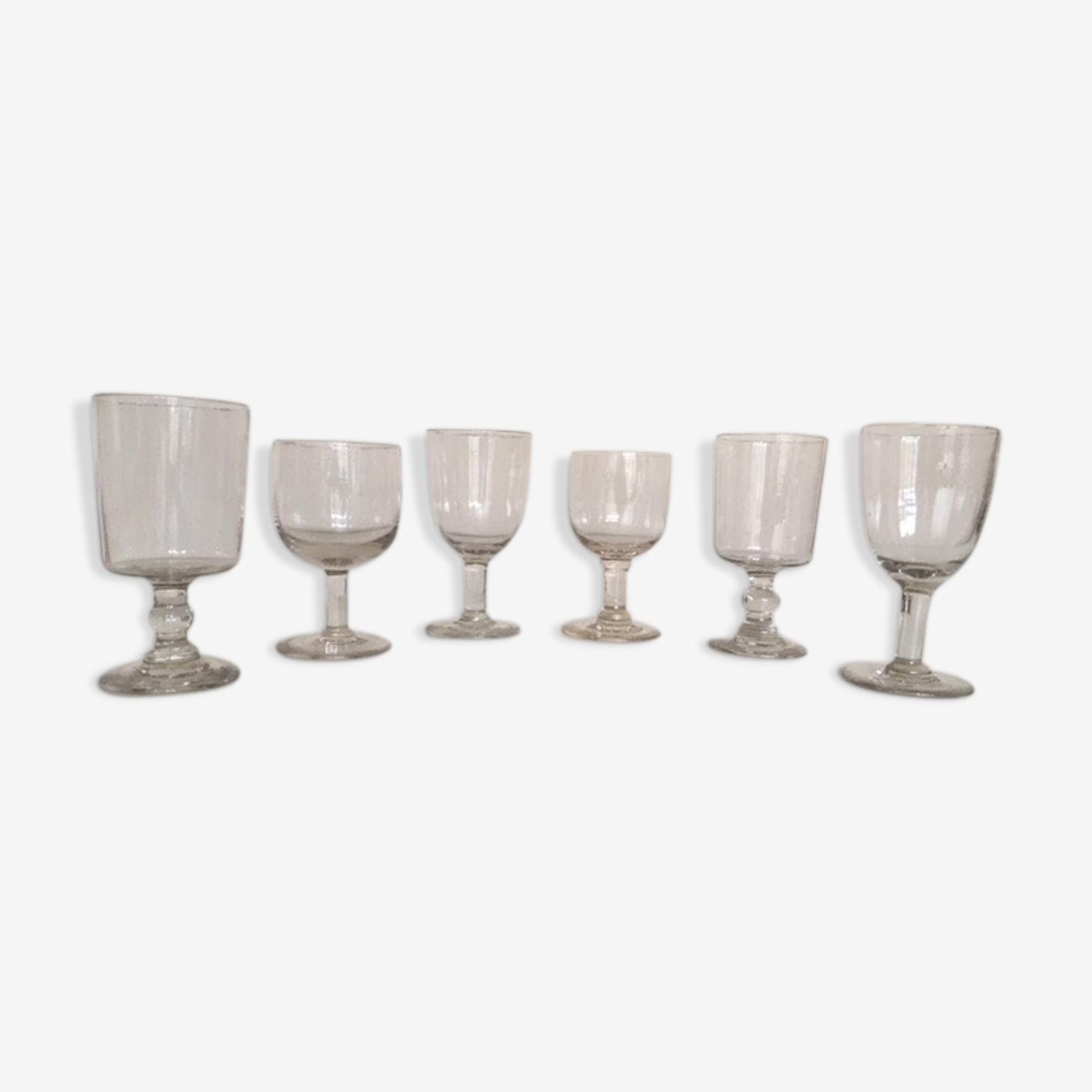 Set de 6 verres Louis Philippe mix & match