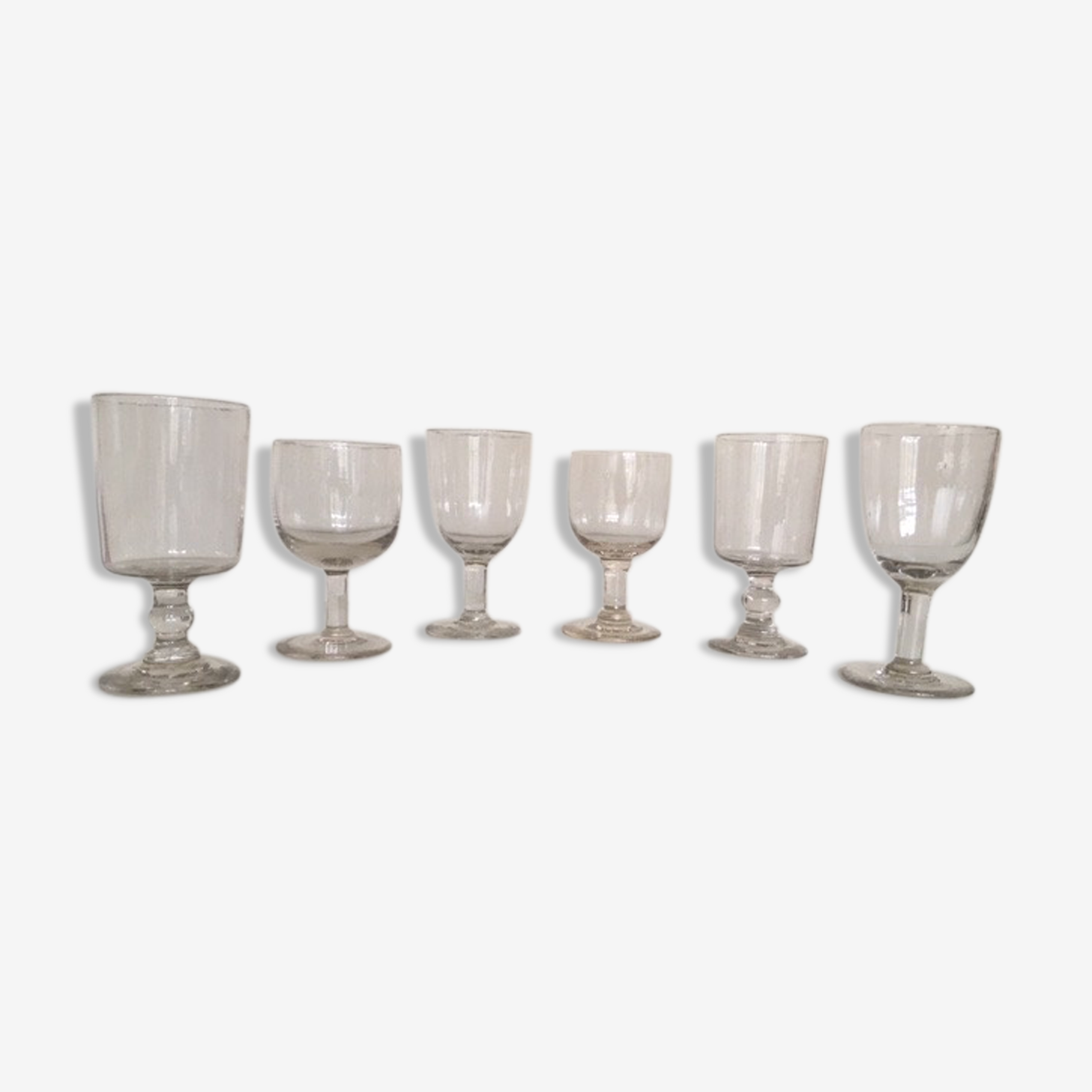 set of 6 glasses Louis Philippe mix & match