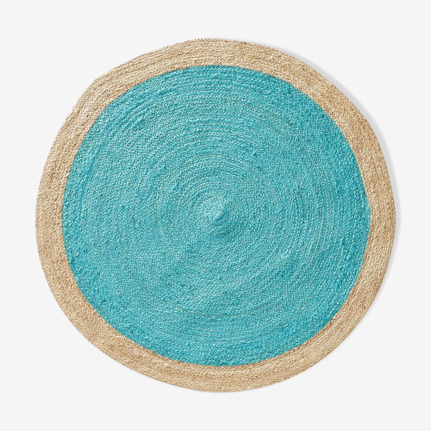 Colorful hessian rug 150cm