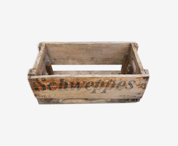 "Caisse en bois ""schweppes"""