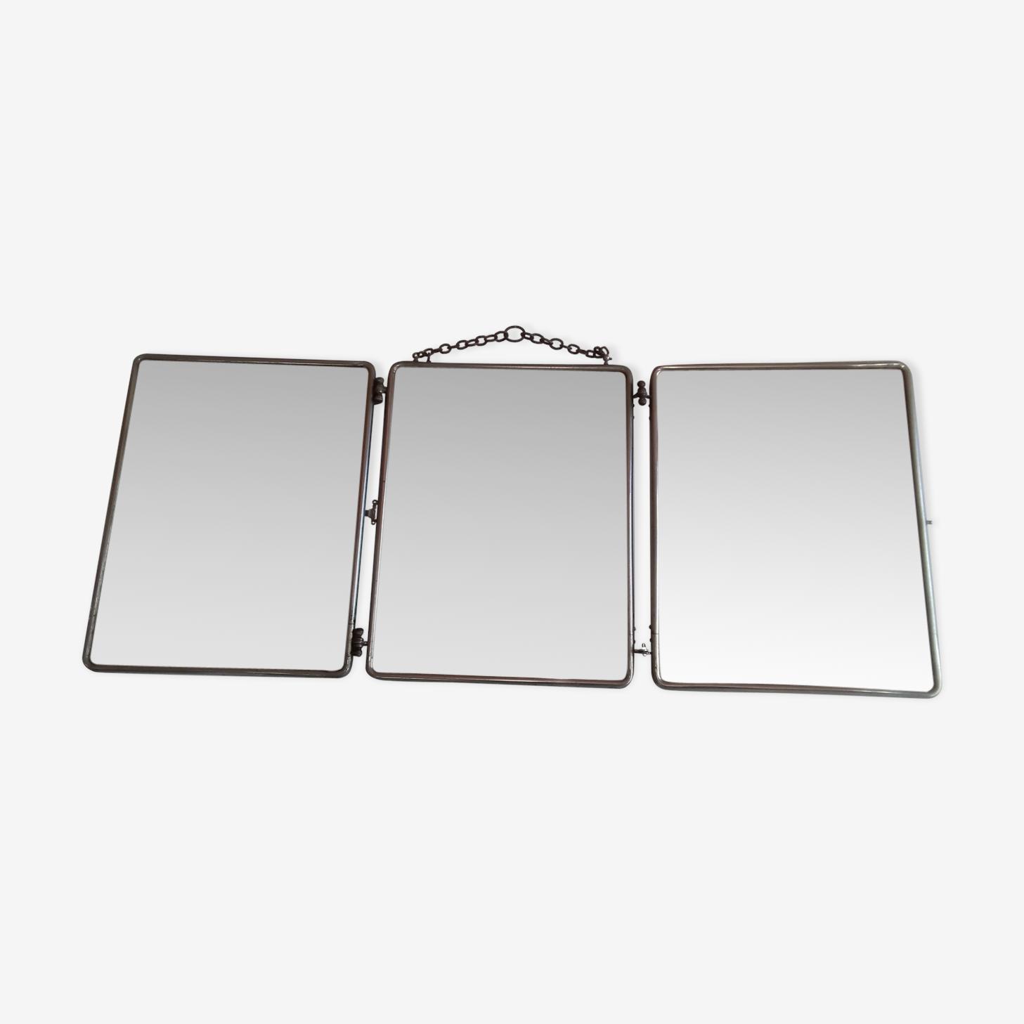 Miroir barbier triptyque 28x67cm