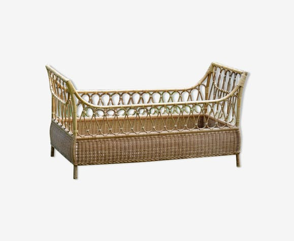 Bamboo bed rattan