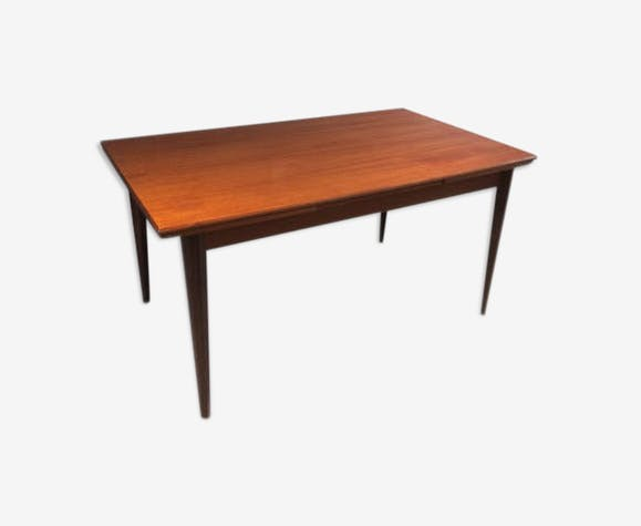 Table vintage avec rallonges des années 60