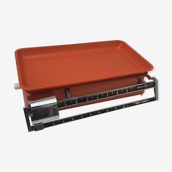 Balance de cuisine Terraillon 10 kgs orange métal vintage années 70