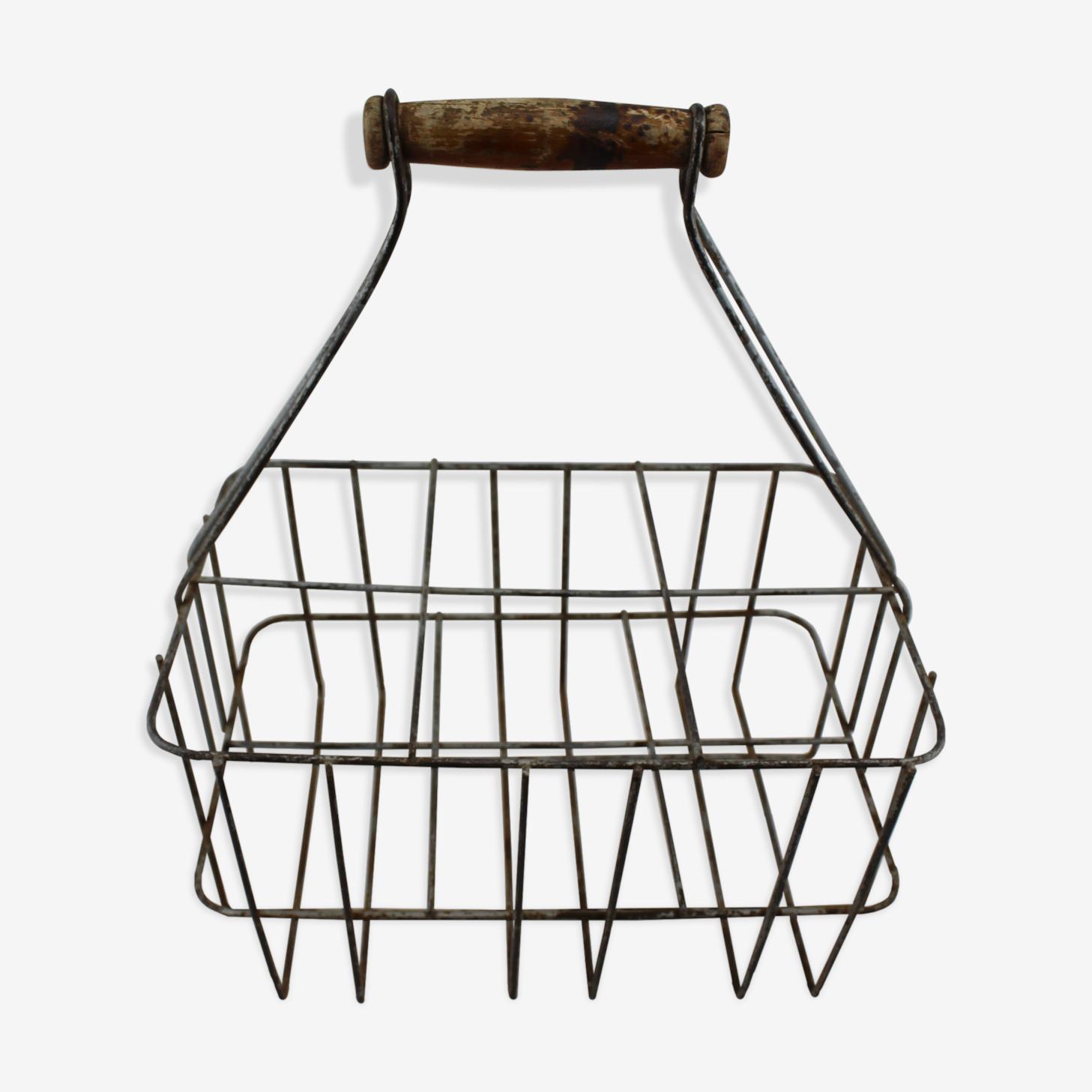 Handle metal bottle rack drink