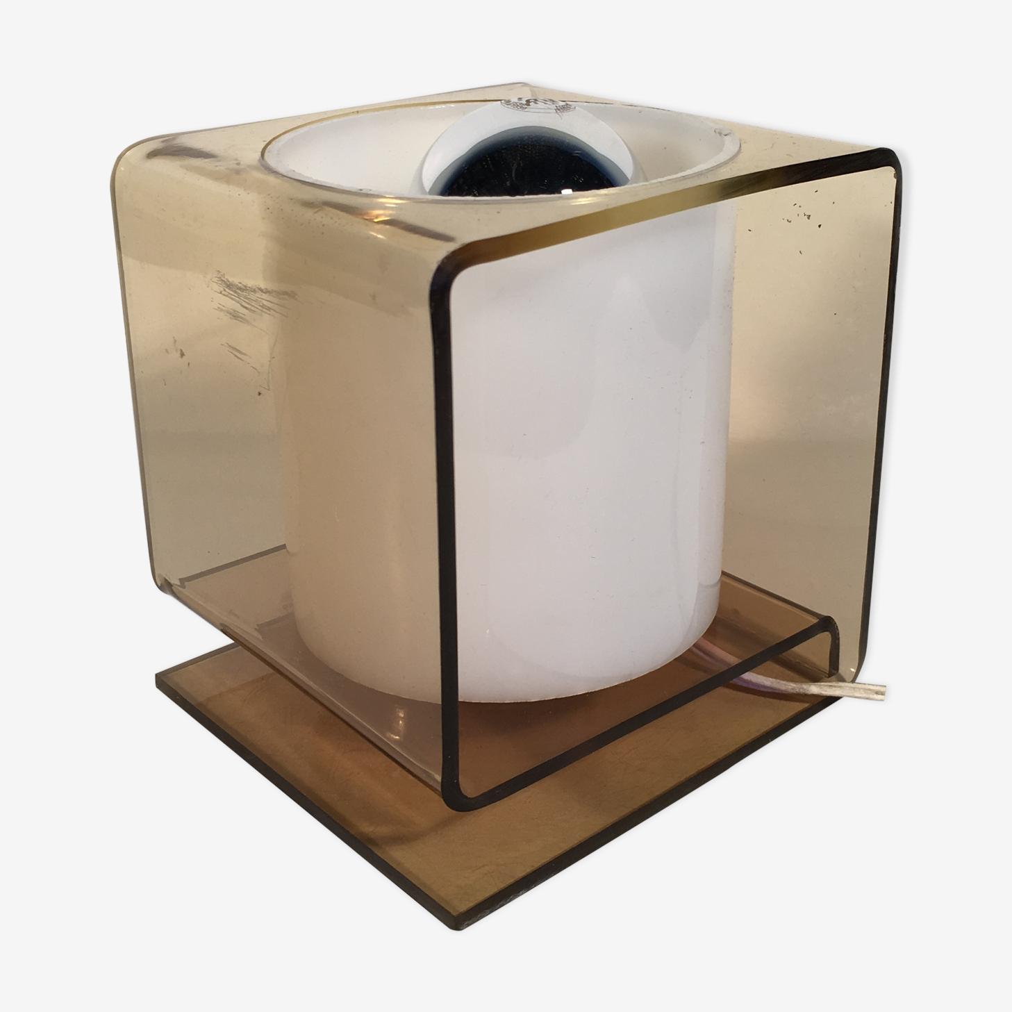 Petite Lampe Guzzini 1970 S Plexiglas Transparent Vintage