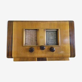 Vintage Decoration Radio Station - Wood, Bakelite - 1950s