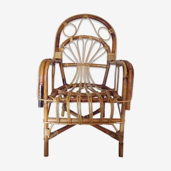 Chair rattan to child years 50