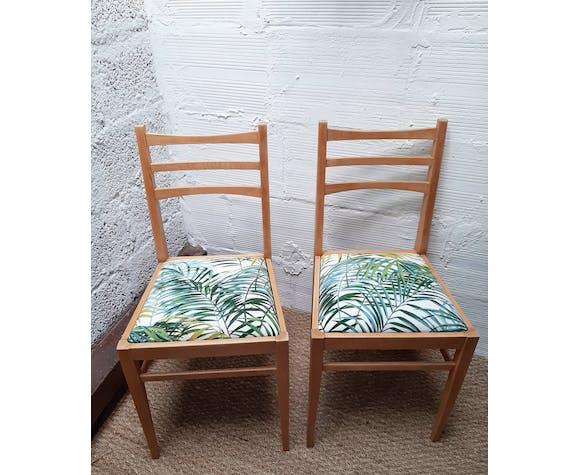 Paire de chaises vintage années 50  palm springs vert