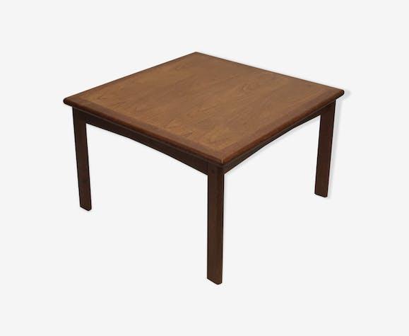 Table basse scandinave en teck carrée