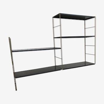 Metal and gold string shelf 1960 modular