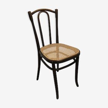 Chaise de bistrot cannée Fischel vintage