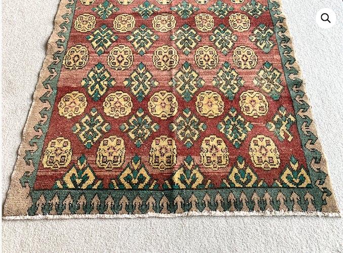 Ancient Turkish carpet kayseri 154x100cm