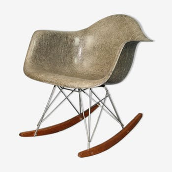 Rocking chair rar gris elephant grey Eames Herman Miller