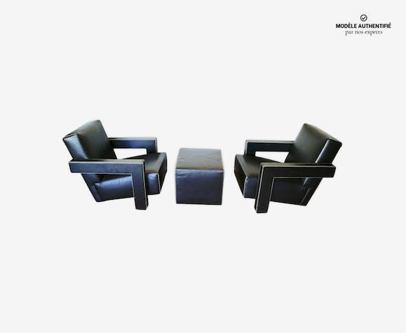 Paire de fauteuils utrecht et ses ottomans