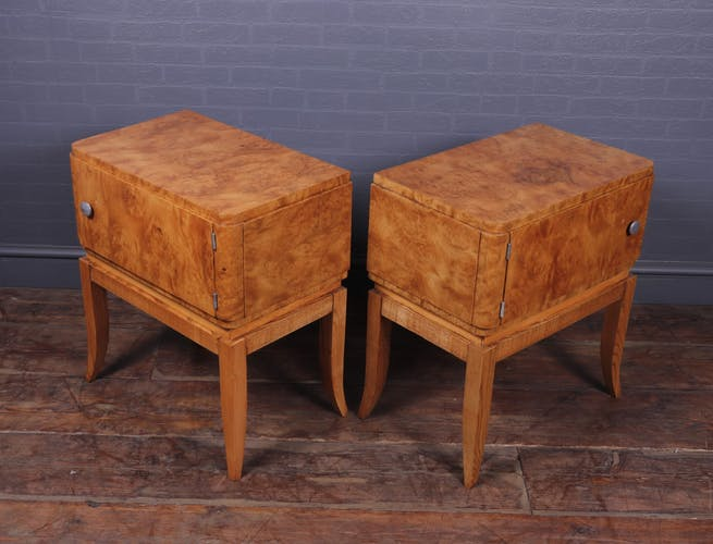 Paire de tables de chevet Art Déco