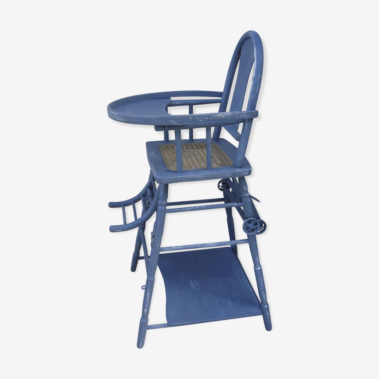 Chaise haute cannée