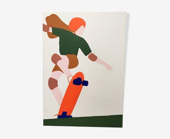 Kim - Peinture acrylique sur toile