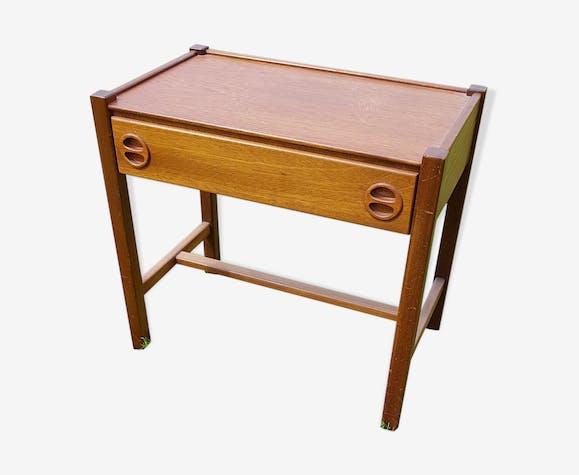 table de chevet en bois clair vintage type scandinave