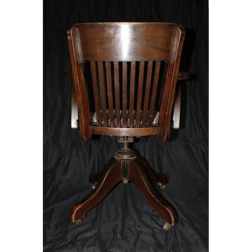 Chaise vintage de banquier londonien en acajou cook's (finsbury) ltd 1940s