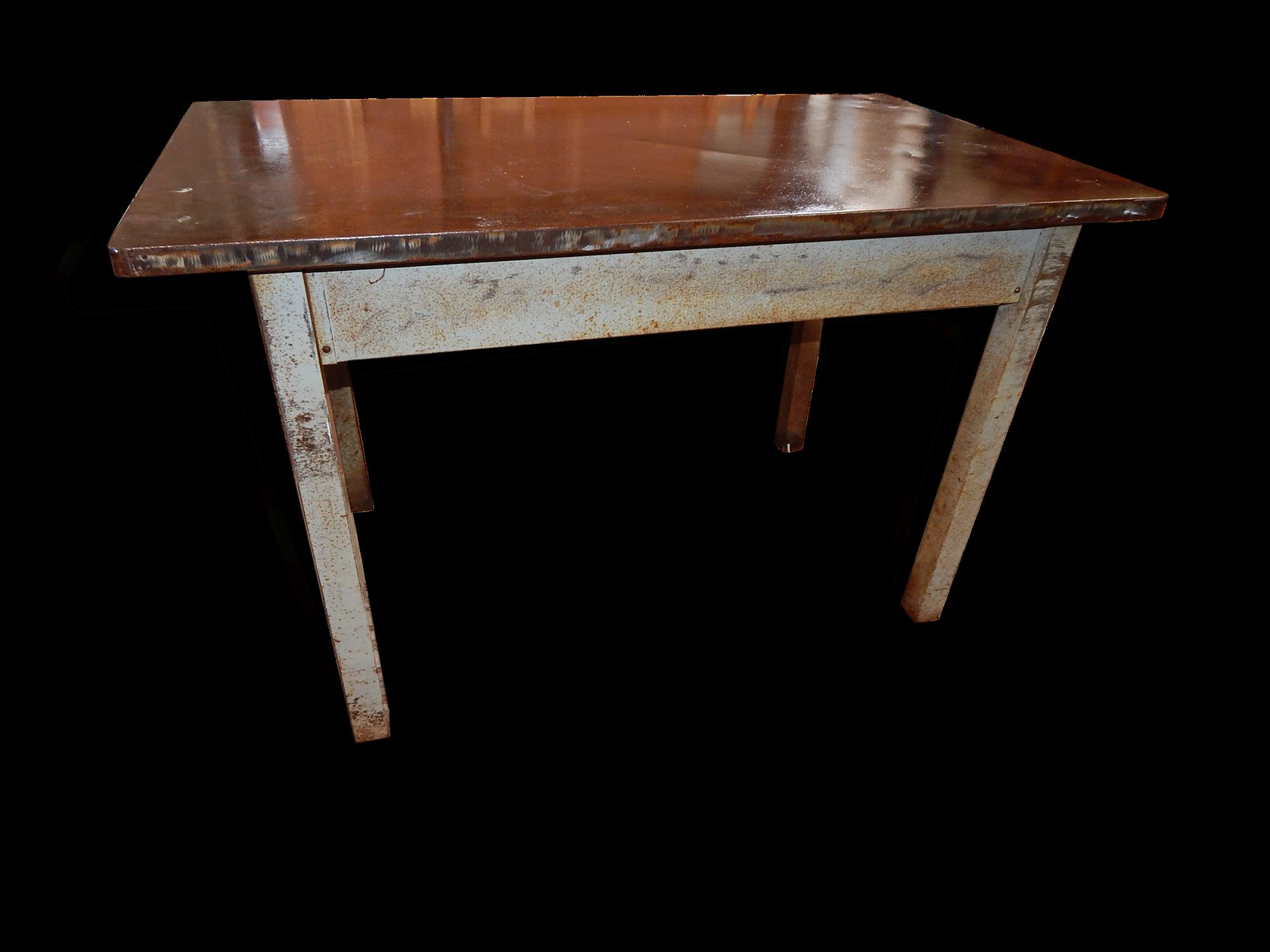 Belle Table Atelier Loft Metal Année 40/50
