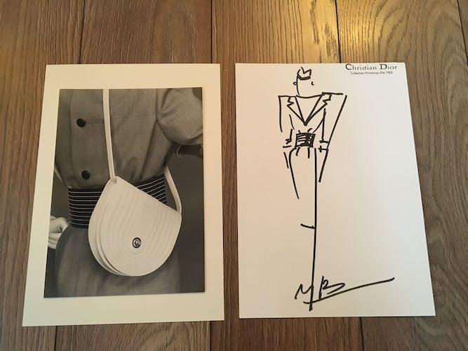 Christian Dior : illustration de mode et photographie de presse 1983