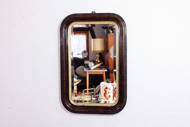 Mirror Napoleon III bevelled 78x51cm