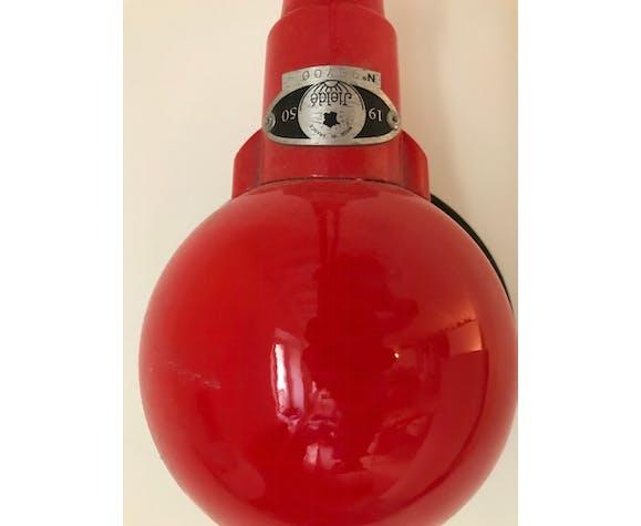 Lampe Jieldé 2 bras originale 1950 en rouge
