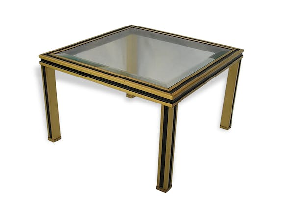 Petite table basse bout de canap style pierre vandel for Table bout de canape en verre