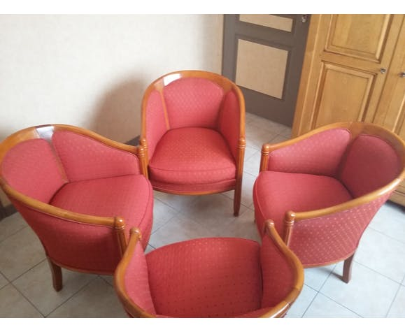 Lot of 4 wing chairs
