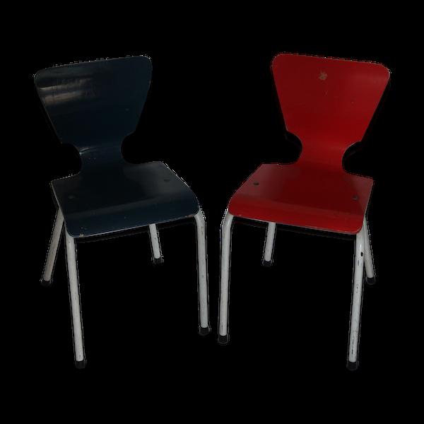Deux chaises design scandinave