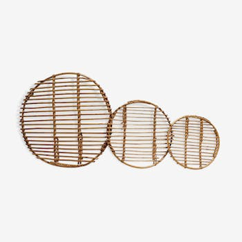Decoration rattan trays
