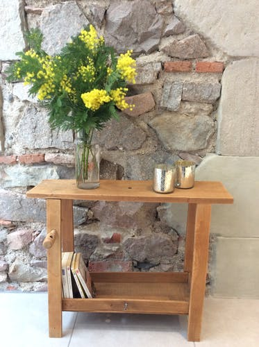 small old wooden workbench