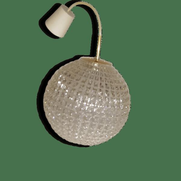lustre boule verre taill vintage verre et cristal transparent vintage 68314. Black Bedroom Furniture Sets. Home Design Ideas