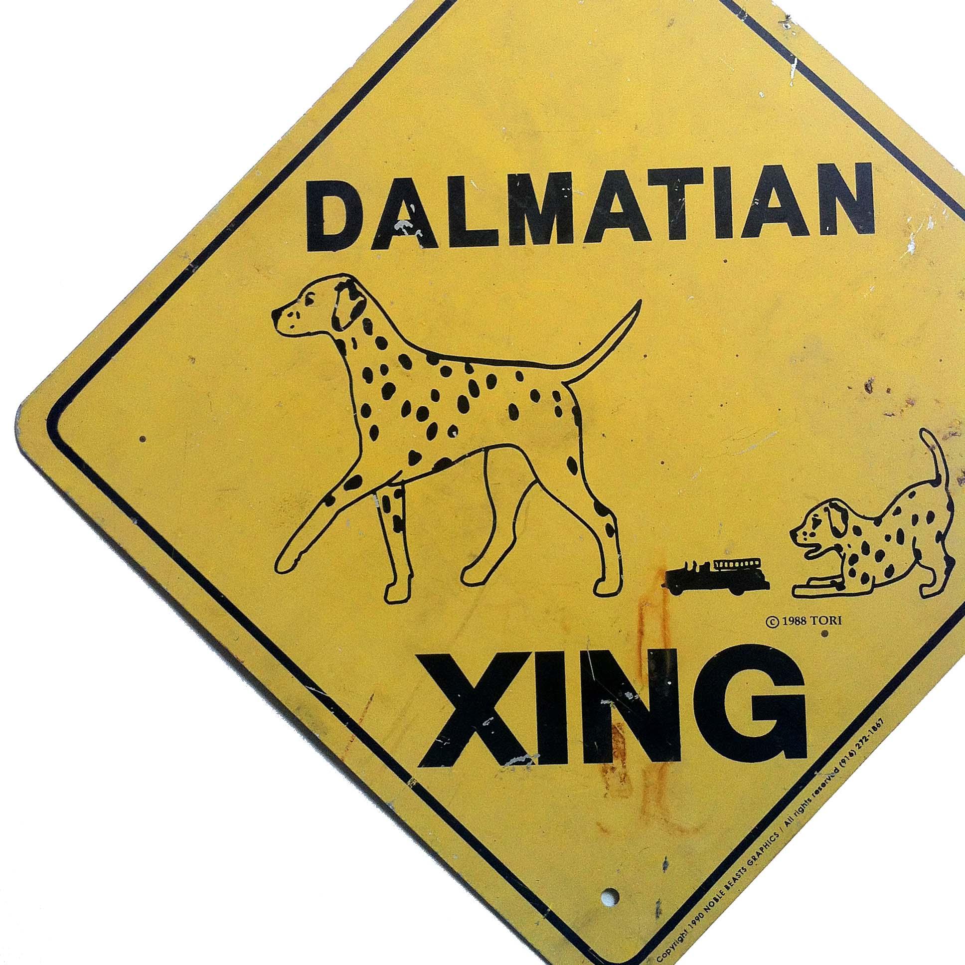 Dalmatian Dog Crossing Xing Sign New