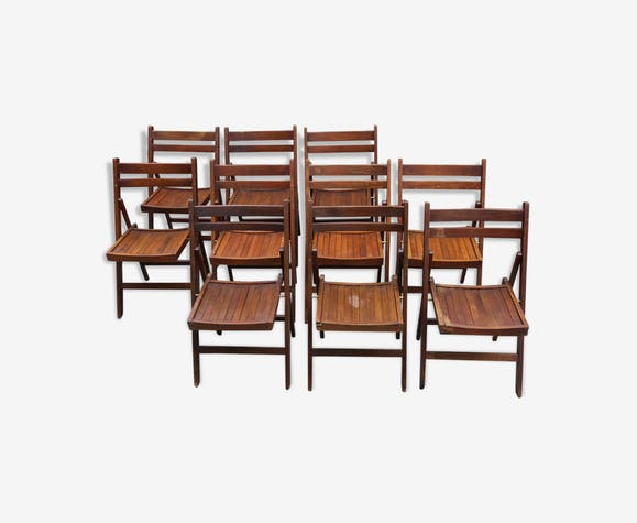 Série de 10 chaises pliantes