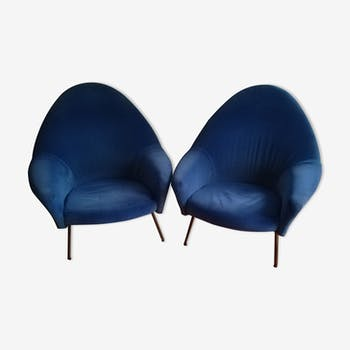 Pair of armchairs by Joseph André Motte 770